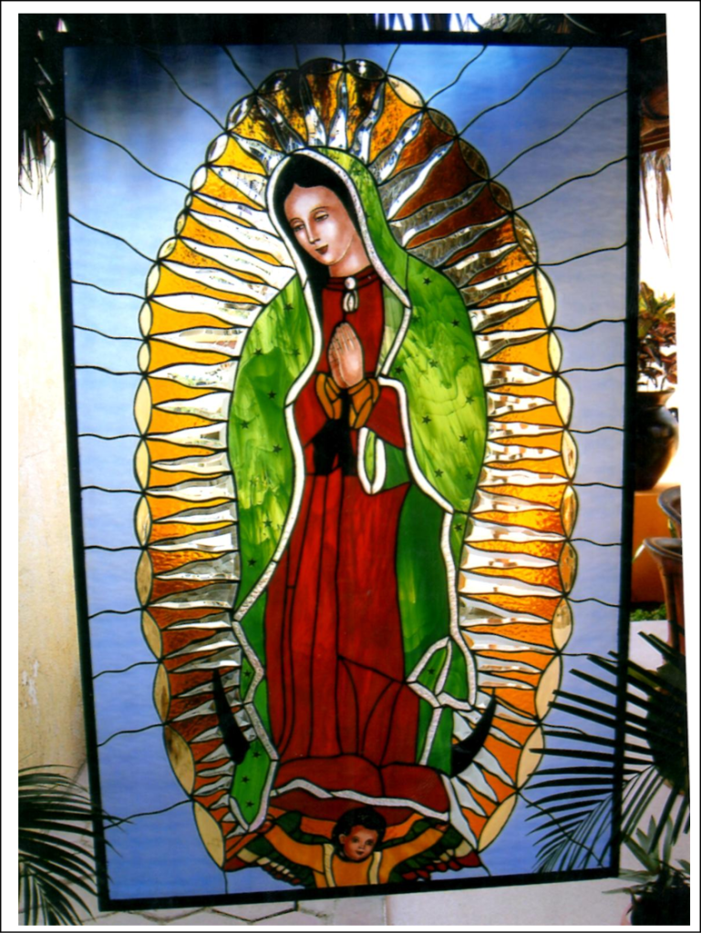 stained glass guadalupe church puerto vallarta